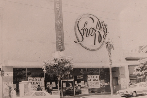 Before MCCLA - Shafs Furniture Store 1976