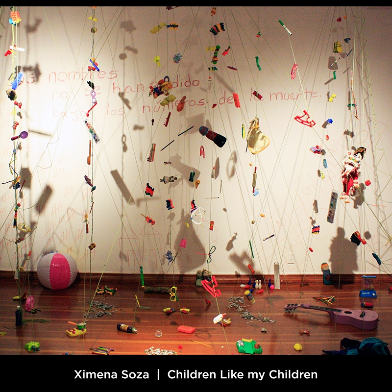 Ximena Soza: Children Like my Children. This ofrenda is dedicated to the more than 500 Palestinian children that were killed during the months of July 2014 and August 2014.