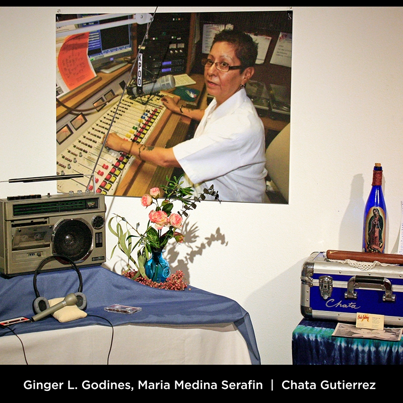 "Ginger L. Godines, Maria Medina Serafin: Chata Gutierrez. Chata Gutierrez spent much of her time at the San Francisco radio station K.P.O.O. 89.5FM. There she consistently programmed and produced the award-winning salsa music program, ""En Clave"" for over 40 years!"