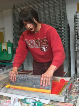 Alyssa Aviles, Screen Printing Instructor