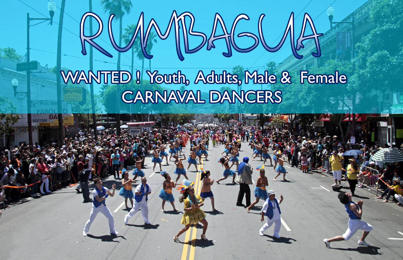 Join Mission Cultural Center's Rumbagua 2015 Carnaval Contingent!