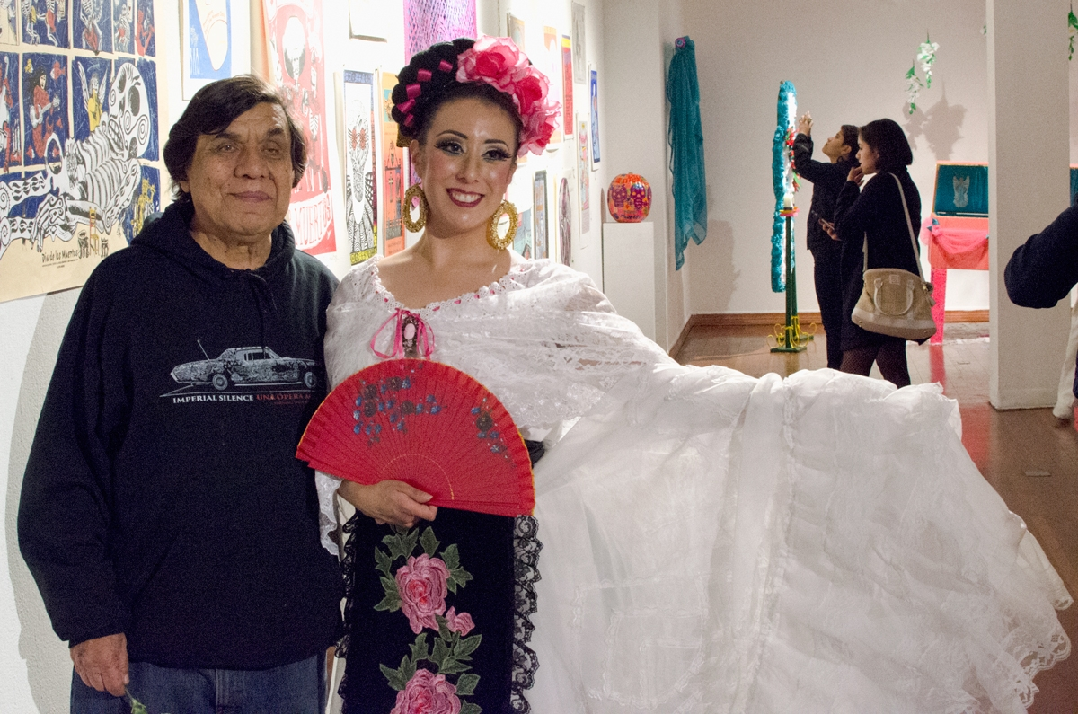 Rene Yañez during MCCLA's Day of the Dead 2017