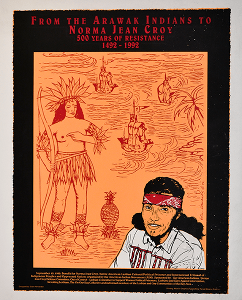 Print 1209 - From the Arawak Indians to Norma Jean Croy - Ester Hernanandez, Alliance Graphics, Renee Moreno Graphics - 1992