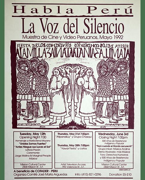 Print 279 - Habla Peru, La Voz del Silencio - Mission Grafica - 1992