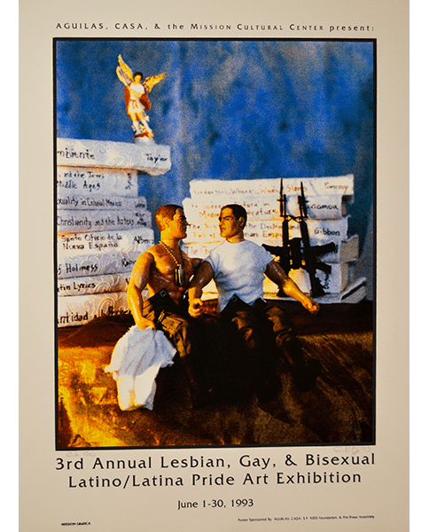 Print 421 - 3rd Annual Lesbian, Gay, Bisexual Latino and Latina Pride Art Exhibition - Mission Grafica and Eugene Rodriguez - 1993