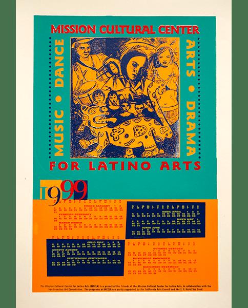 Print 62 - MCCLA 1999 Calendar - Mission Grafica - 1999