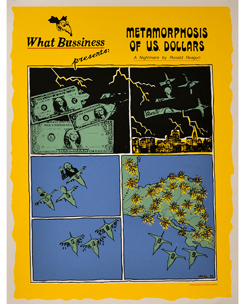 Print 784 - What Business Presents, Metamorphosis of the Dollar - Araiza, Mission Grafica - 1984