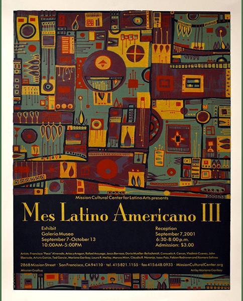 Print 968 - Mes Latino Americano III - Mission Grafica - 2001