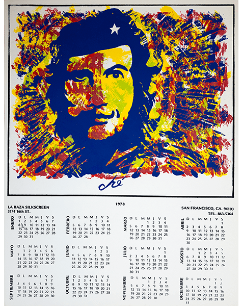 Print LR308 - La Raza Graphic Silkscreen Center Calendar 1978