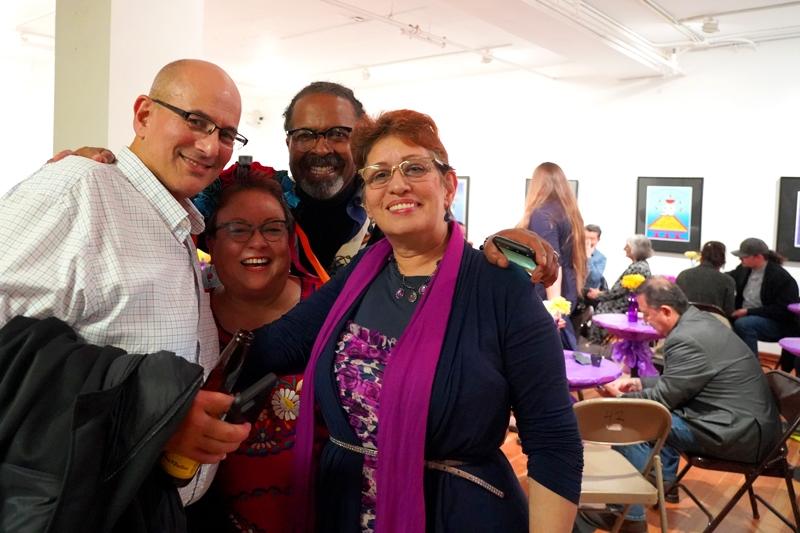 Executive director Jennie Rodriguez, board member Rosa Jaquez and friends.